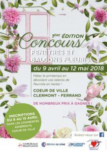 """Affiche du concours """"Fenêtres et balcons fleuris"""""""