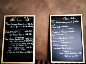 Menu du restaurant Maison du Gaucher, cuisines et dépendances.