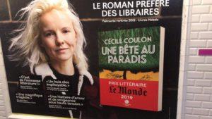 Affiche publicitaire cécile Coulon dans le Métro à Paris