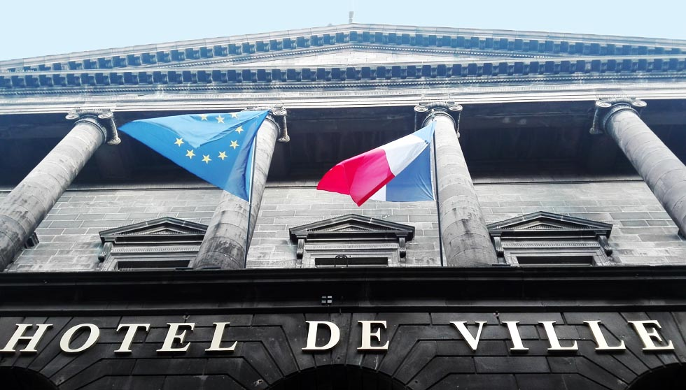 Fronton de l'Hôtel de Ville de Clermont