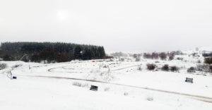 La piste du Trophée Andros sous la neige