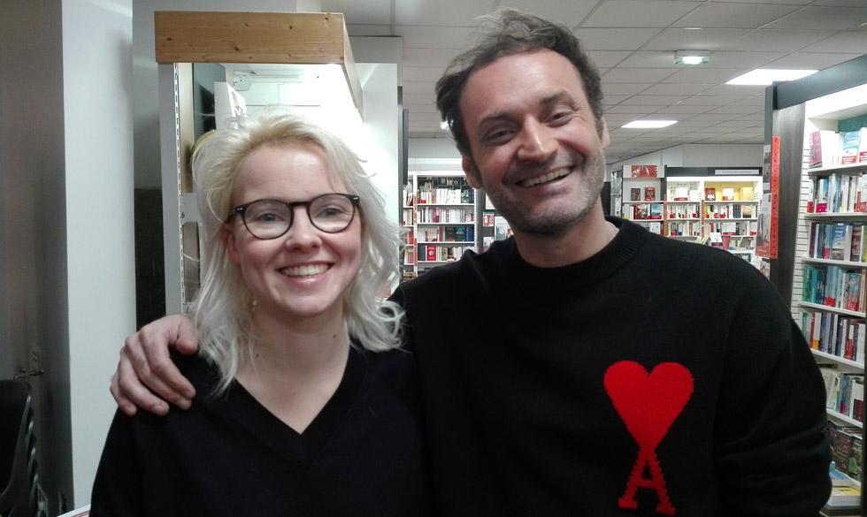Cécile Coulon et Augustin Trapenard