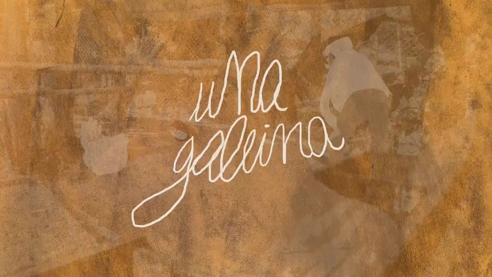 image du générique du film court Una Gallina