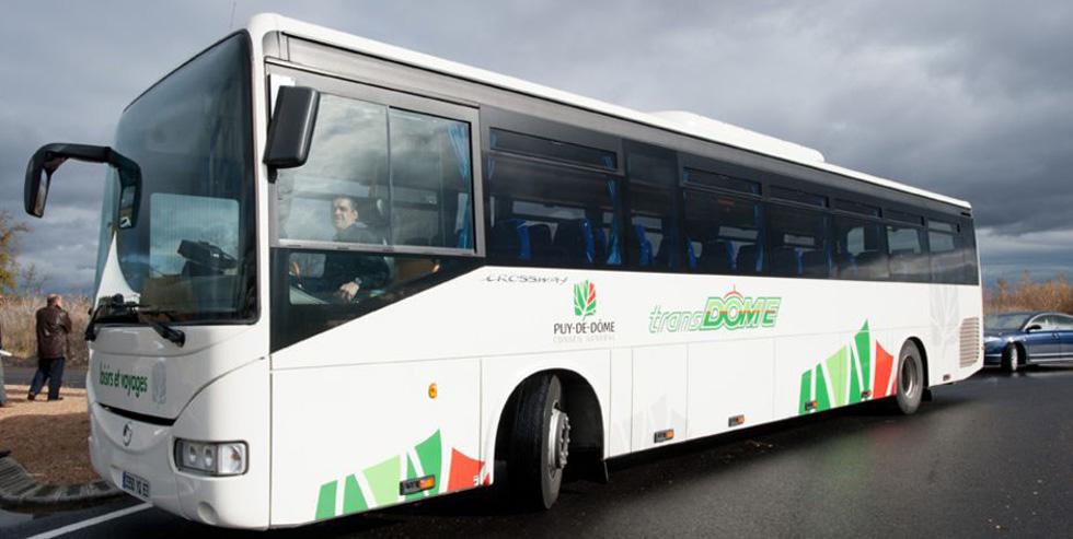 Bus TranDôme du Conseil Départemental du Puy-de-Dôme