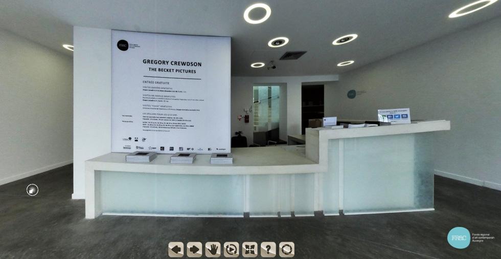 Captation d'image d'une visite virtuelle du FRAC Auvergne