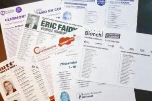 Bulletins de vote Clermont 2020