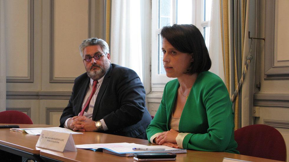 Olivier Bianchi et Anne-Gaëlle Baudoin-Clerc réunis.