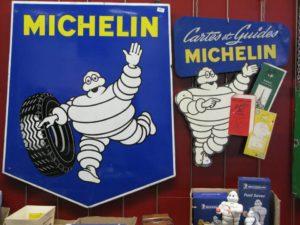 Plaques publicitaires Michelin