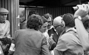 P. Depailler face à la presse / Photo Paul Lutz - Agissons pour Charade