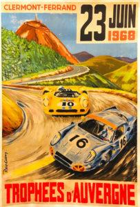 Affiches des Trophées d'Auvergne 1968 qui n'ont pas eu lieu.
