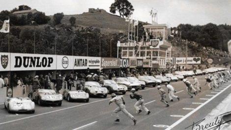 Départ type Le Mans, Trophées d'Auvergne 1962 course de 300 km / Photo Breuly