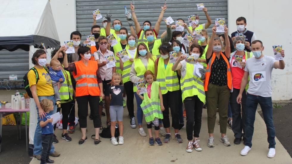 Les ramasseurs aubiérois du Clean Up Day / Photo DR