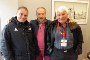 Daniel Pautrat avec Poulidor et Hinault