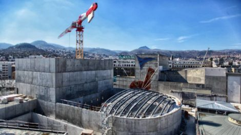 Vue du chantier de La Comédie, photo Lucas Falchero