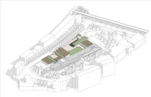Perspective du centre thermal après travaux. (c) Blezat architecture