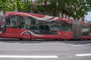 Bus articulé de la ligne B de Clermont / Photo SMTC