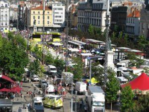 Village départ Tour de France 2020 Place de Jaude / photo O. Perrot