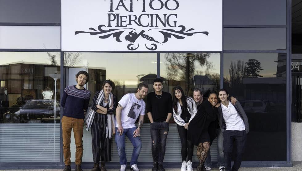 L'équipe du Studio Tattoo Piercing / photo Olivier Lou