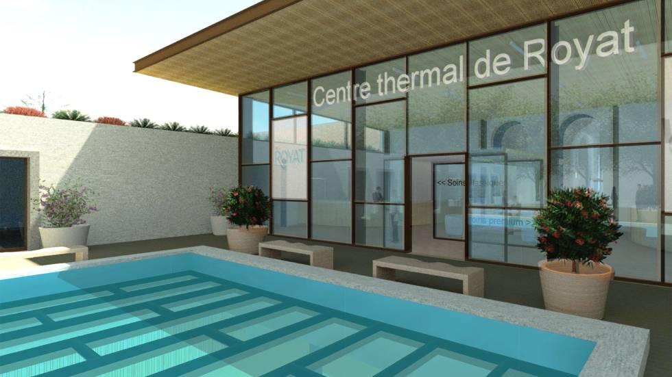 la future entrée du Centre Thermal de Royat (c) Blezat Architecture
