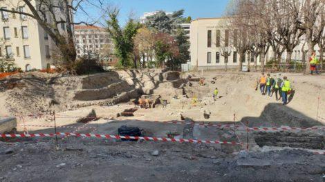 Bibliothèque métropolitaine clermontoise : Fouilles archéologiques sur l'emplacement du futur jardin de lecture / Photo 7 Jours à Clermont