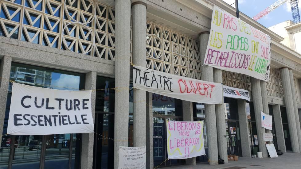 La Comédie occupée avril 2020 / Photo 7 Jours à Clermont