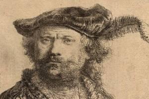 """Rembrandt, autoportrait """"Rembrandt faisant la moue"""""""
