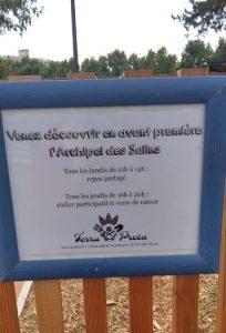Archipel des Salins/ panonceau 2/ Photo : E. D'Aversa