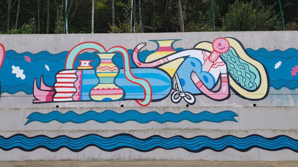 Fresque Pablito Zago : Photo Les Accros du Peignoir