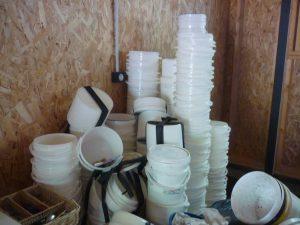 Archipel des Salins/ bacs recyclés/ E. D'Aversa