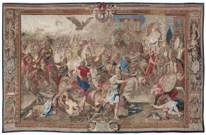 Tenture de l'Histoire d'Alexandre Le Grand, La Bataille d'Arbelles