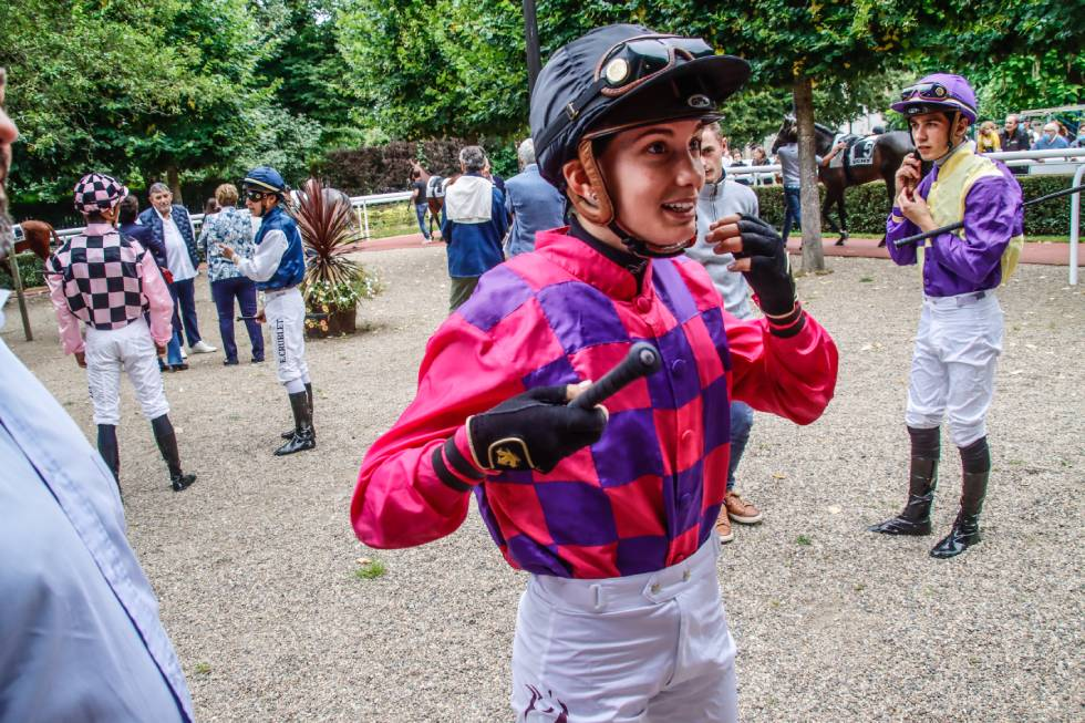 Femme Jockey, Vichy / Photo P.Bossin