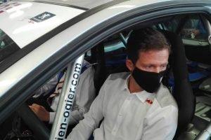 Sébastien Ogier retrouve le baquet de sa 206 / Photo 7 Jours à Clermont