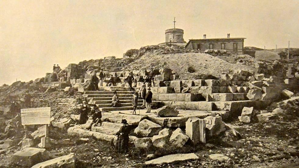 L'observatoire et le temple de mercure vers 1900 / Photo X