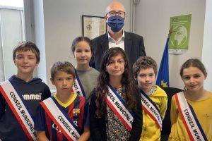 Laurette Richard Pargue et ses adjoints / Photo ville de Beaumont