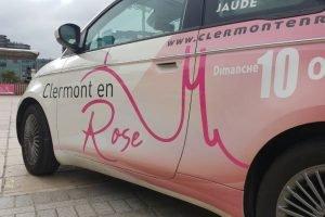 Fiat 500 Clermont en Rose